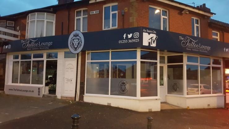 The Tattoo Lounge Fascias External Signage, Blackpool