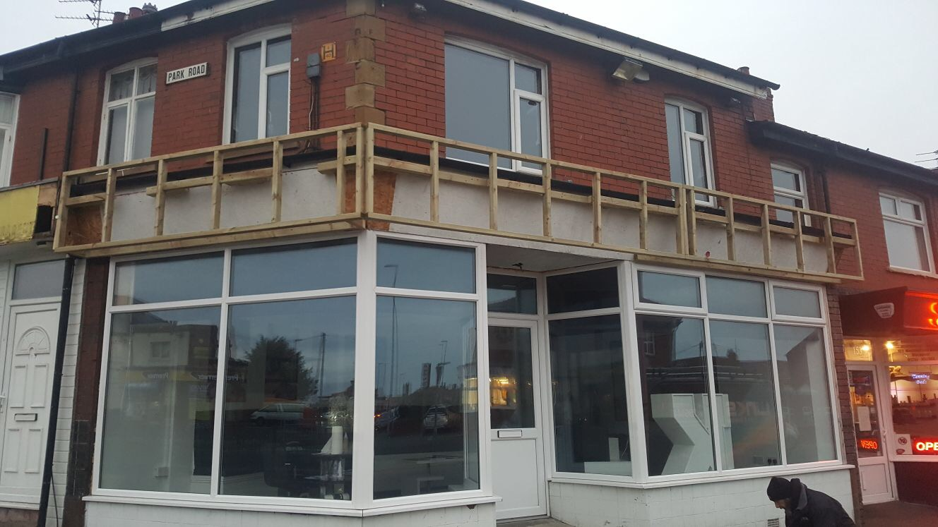 Timber Subframe for Fascia Signage, Blackpool