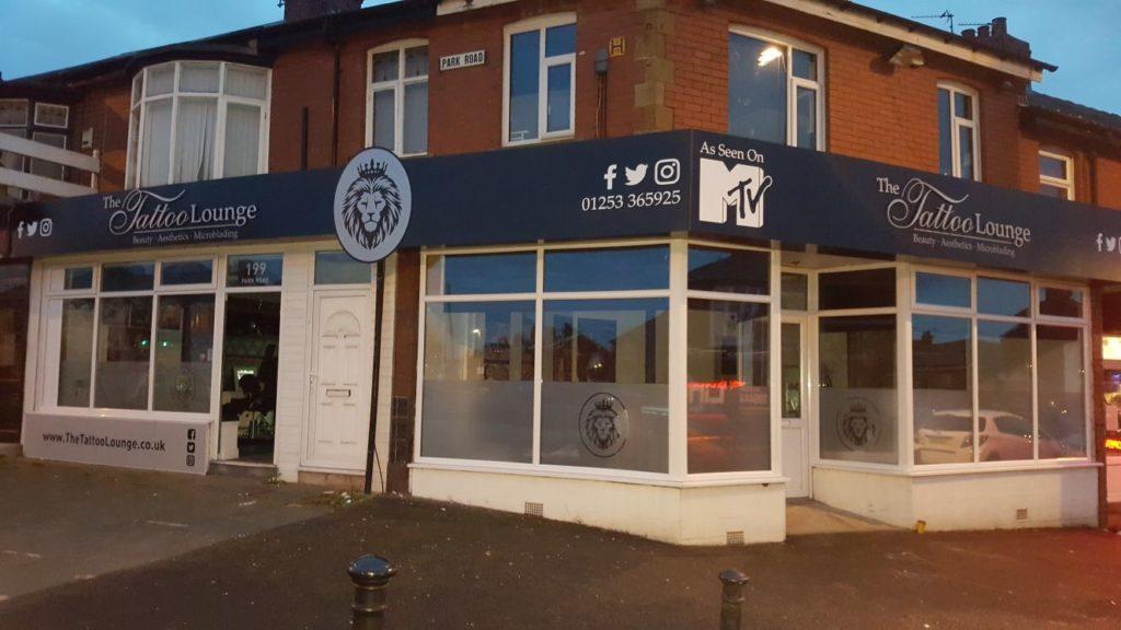 Tattoo Lounge Signage Portfolio After
