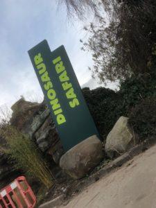 Blackpool Zoo Dinosaur Safari Signage
