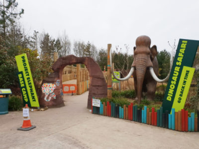 Blackpool Zoo Dinosaur Safari Project Elephant Signage