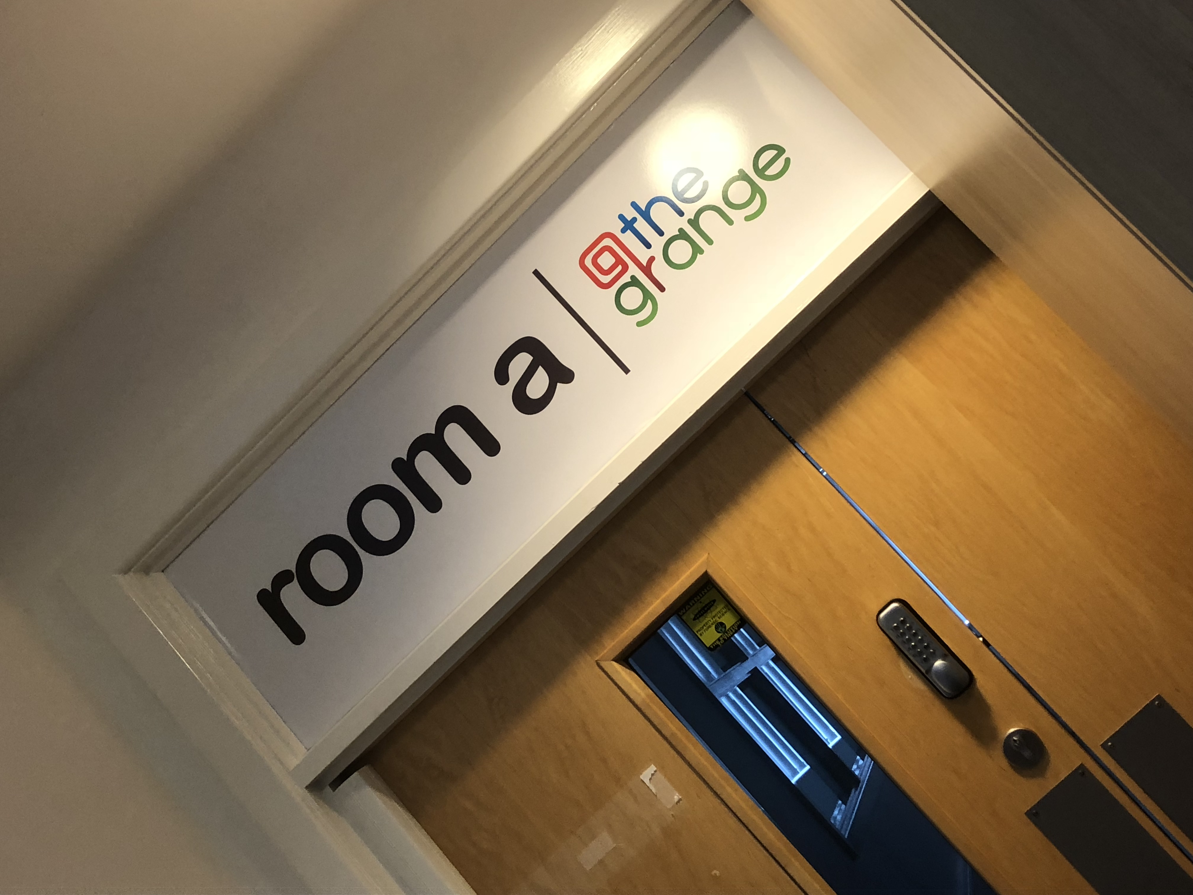 Room A The Grange Signage Wall Graphics