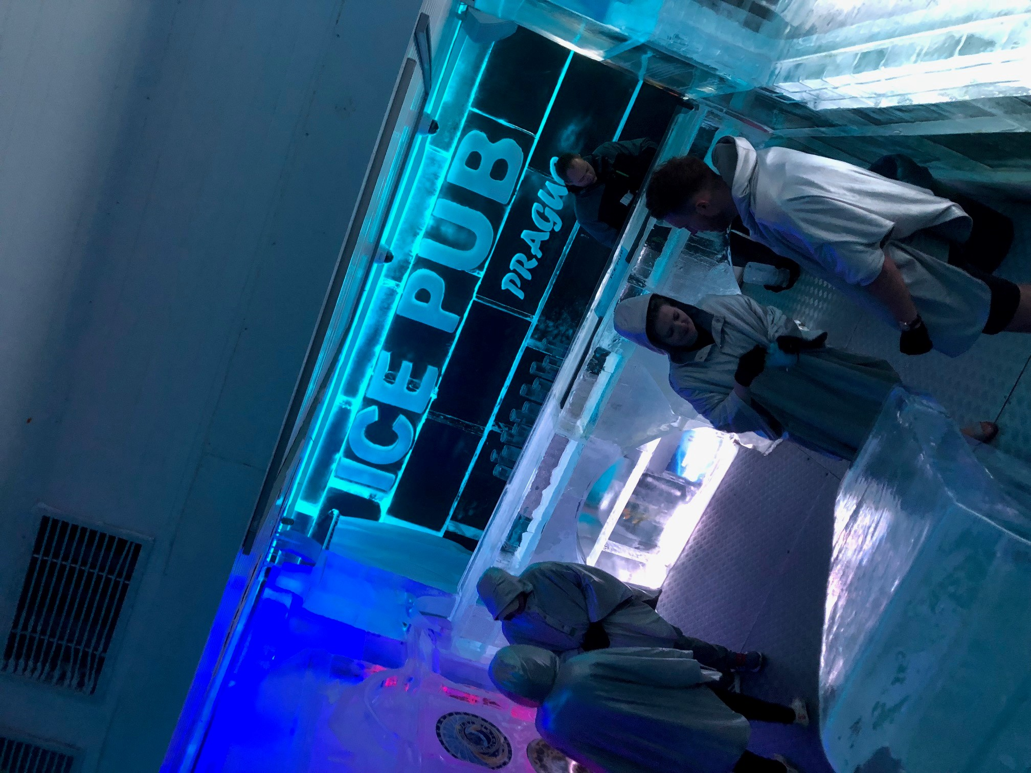 Links, Signs and Graphics Team in Prague Ice Bar