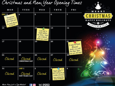 Calendar Christmas Links Signs and Graphics