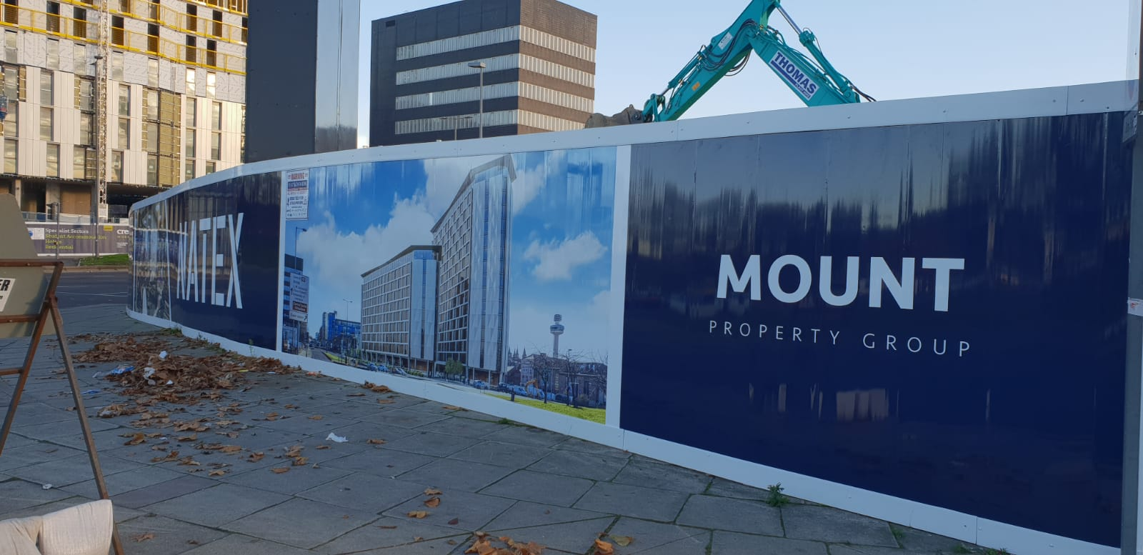 Hoarding Graphics Liverpool Mount Property Group