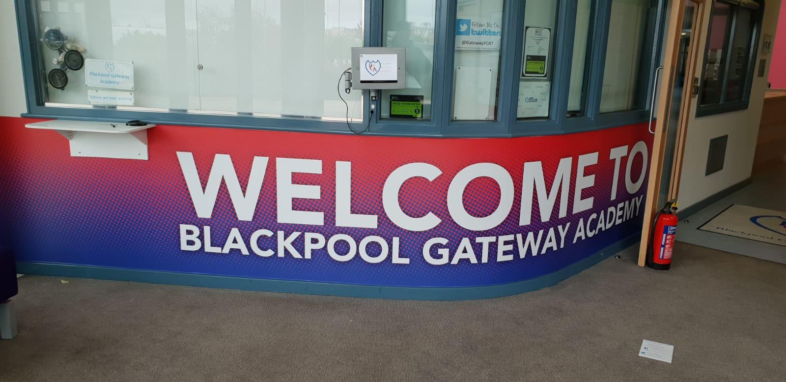Gateway Academy Wall Graphics Blackpool