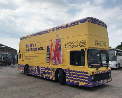 university of cumbria bus wrap vehicle graphics