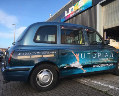 the hot ice show vehicle graphics taxi wrap