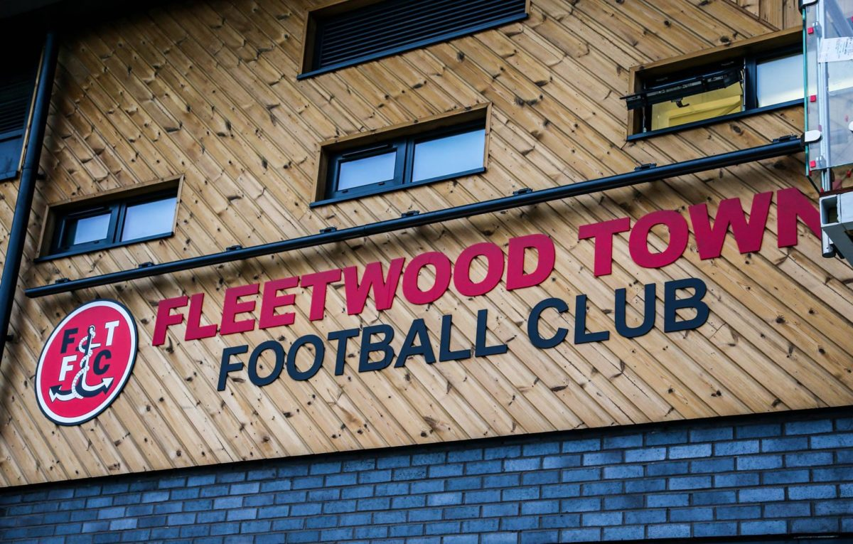 external fascia sign fleetwood town football club