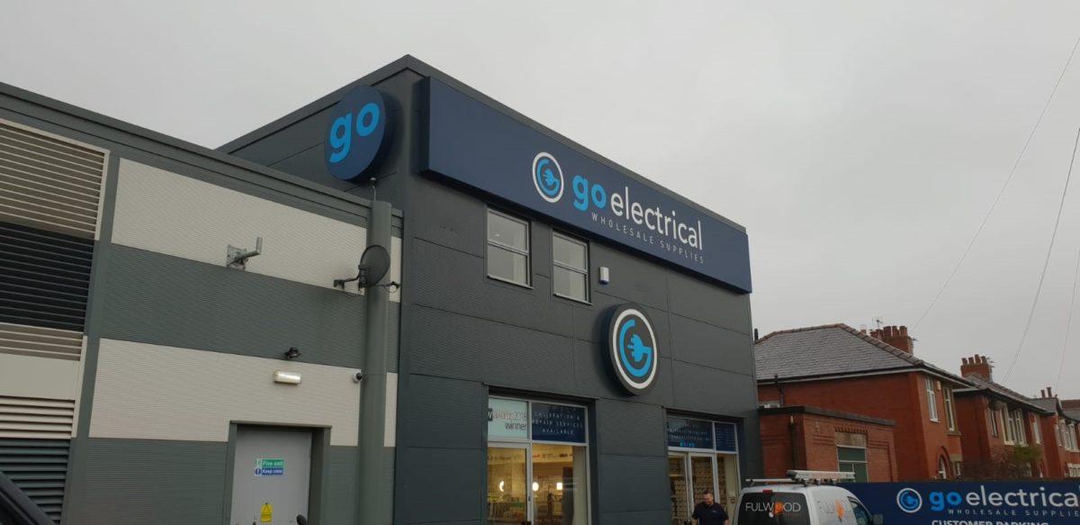 go electrical signage fascia