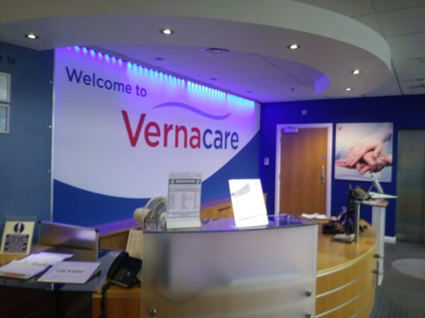 illuminated banner system acrylic panel vernacare