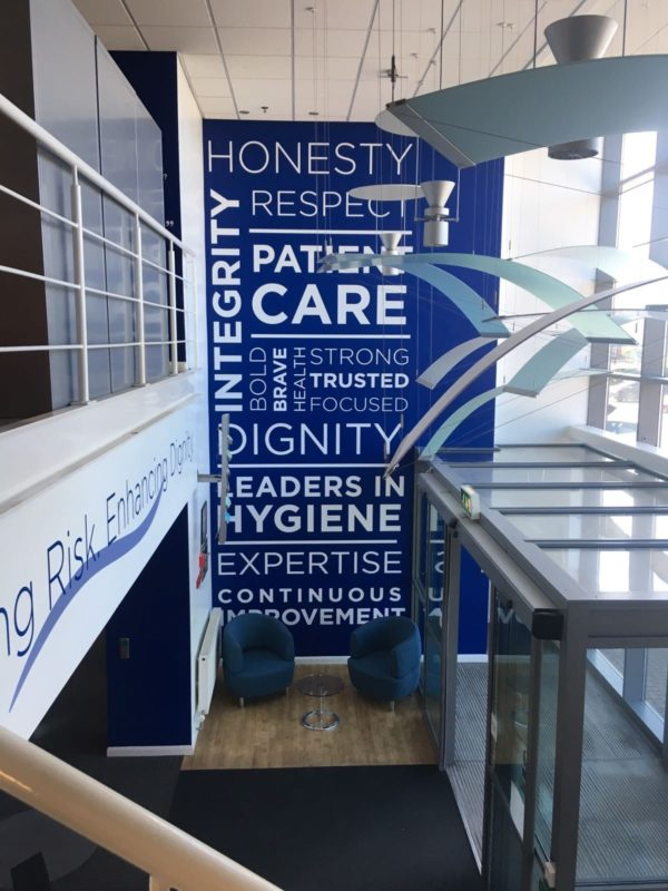 white text wall graphics