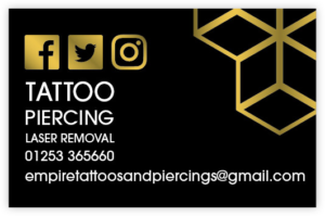 Tattoo Piercing Business Card