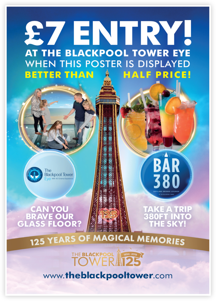 Merlin Blackpool Tower Poster