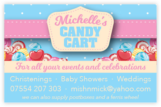 Michelle's Candy Cart Business Card