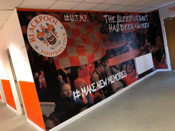 blackpool football club wall graphics