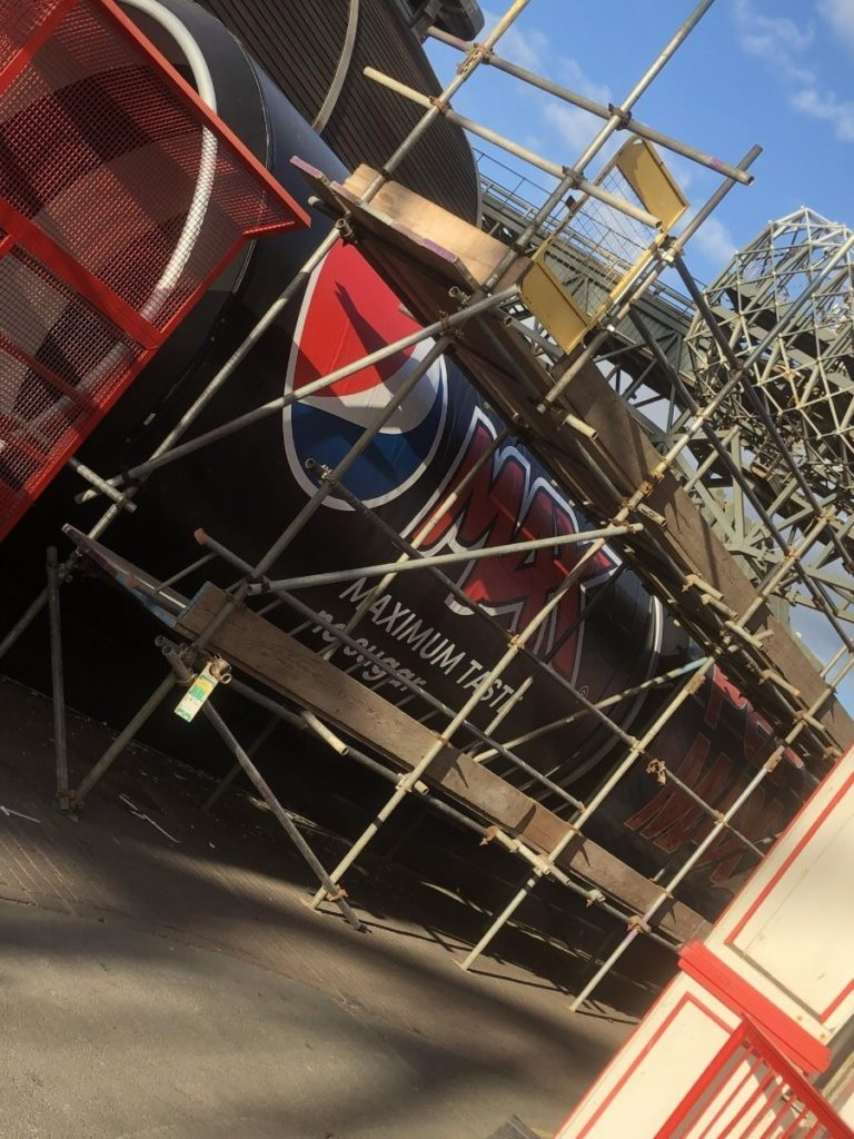 Pepsi Max Big One Ride Graphics Blackpool Pleasure Beach