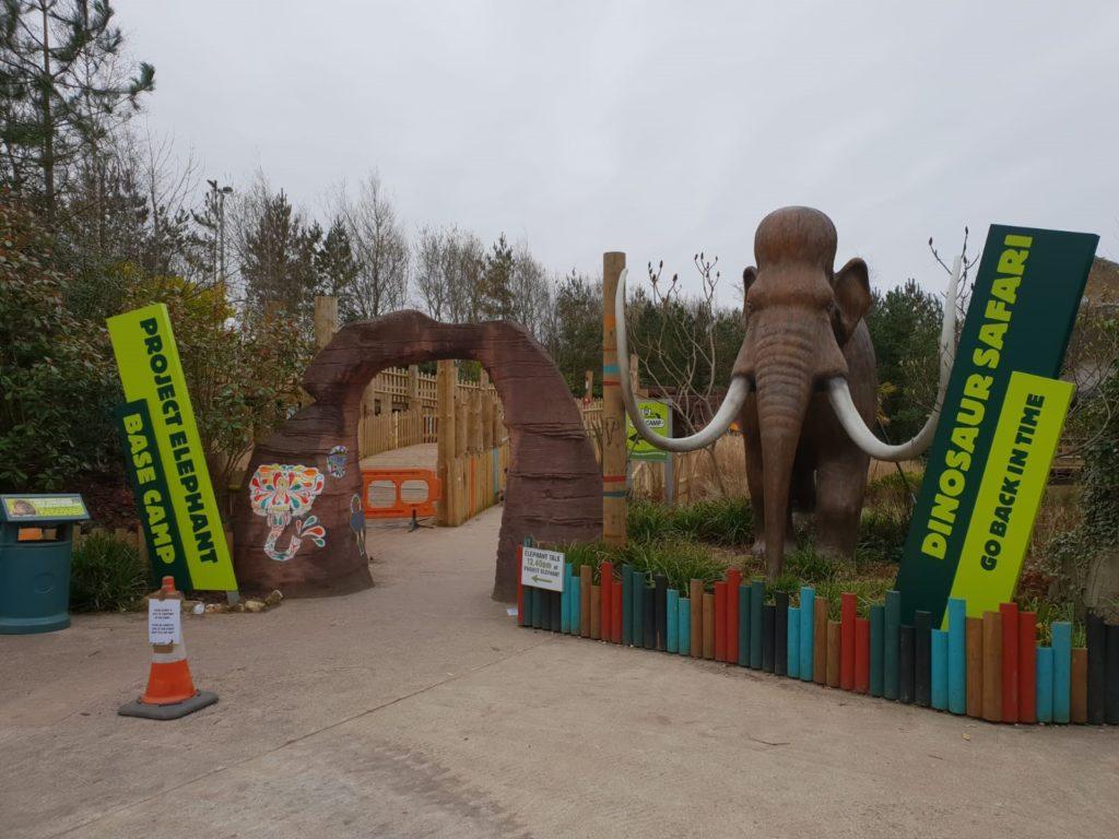 Blackpool Zoo Dinosaur Safari Signage Elephant Project