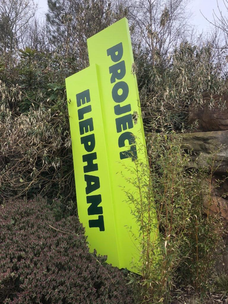 Blackpool Zoo Project Elephant Signage