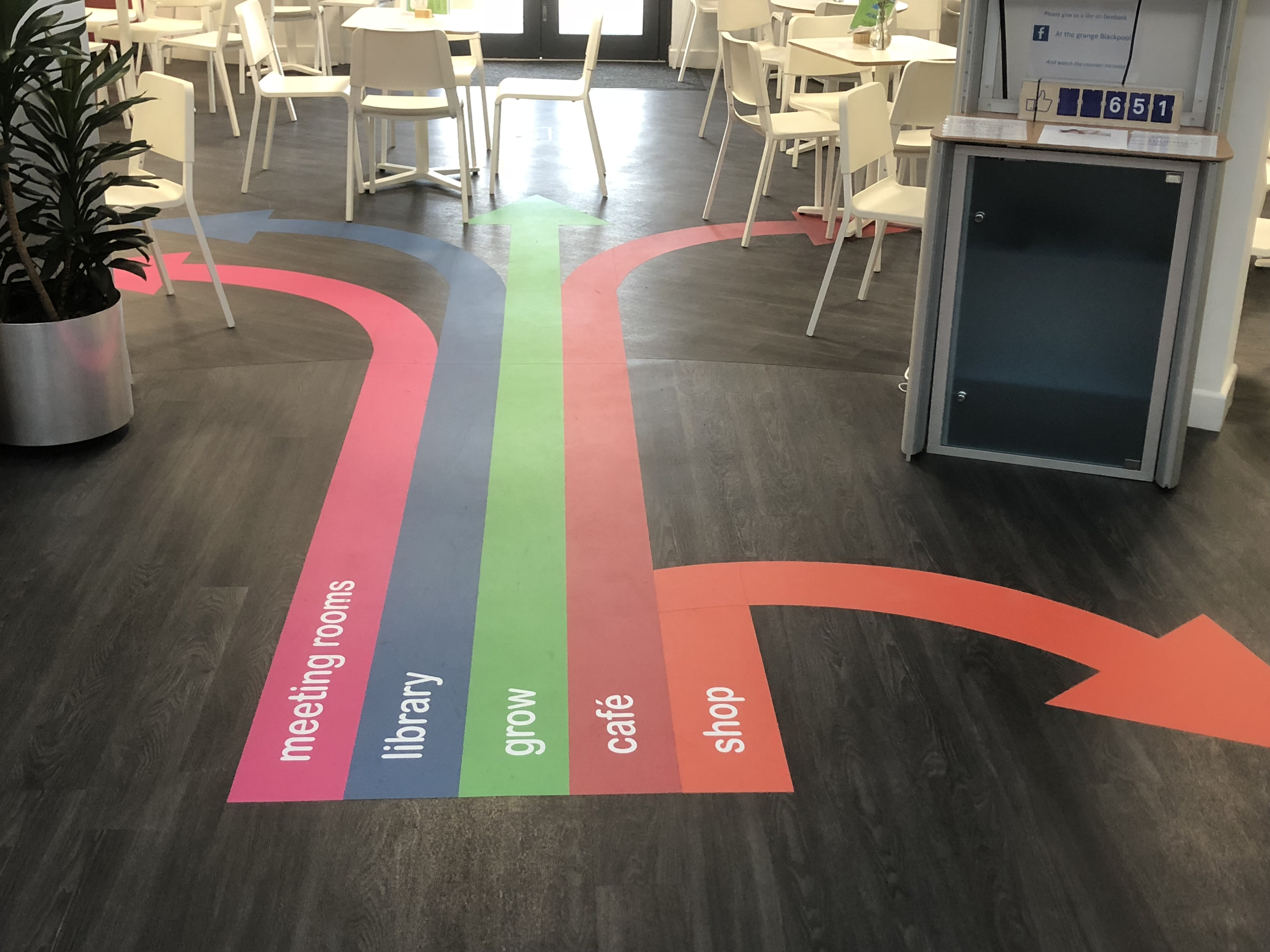 Floor Graphics Portfolio Links Signs and Graphics