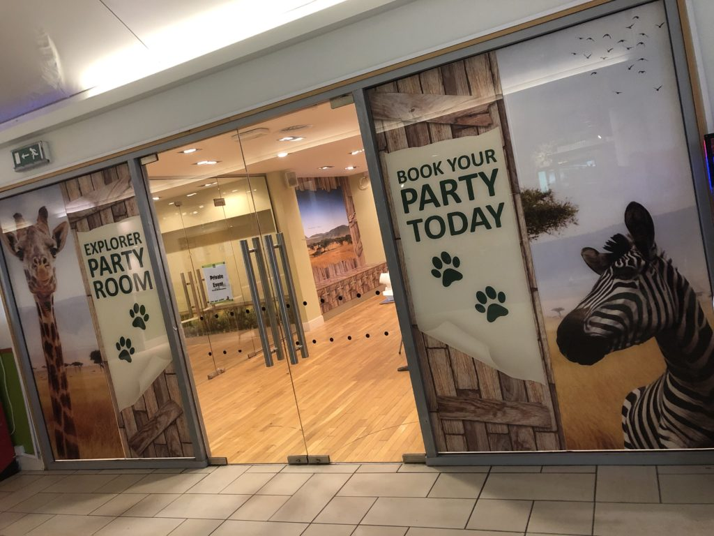 Party Room Entrance Wall Graphics