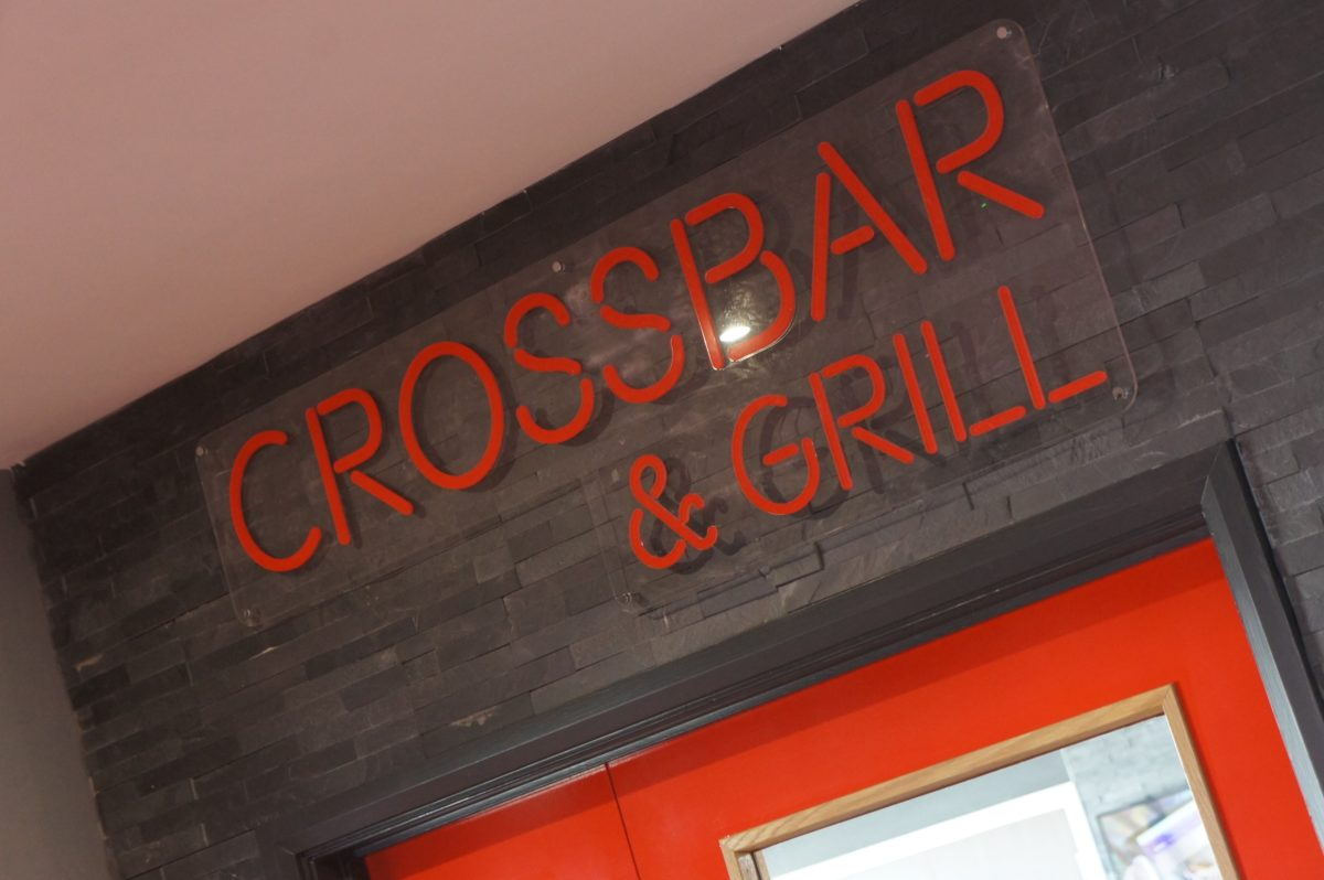 acrylic sign crossbar and grill