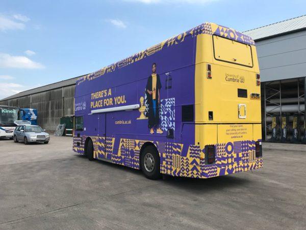 bus wrap vehicle graphics university of cumbria