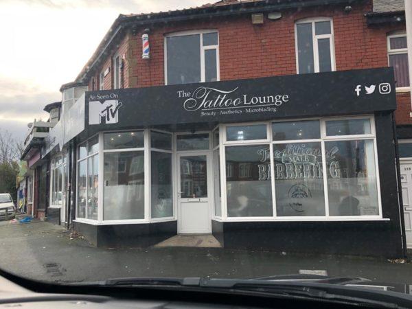 the tattoo lounge blackpool signage
