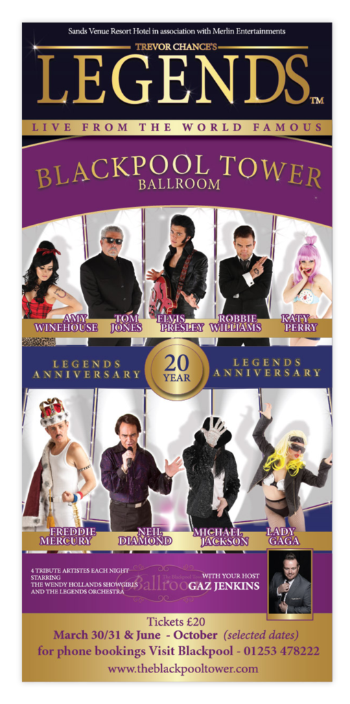 Blackpool Tower Ballroom Trevor Chance's Legends Poster
