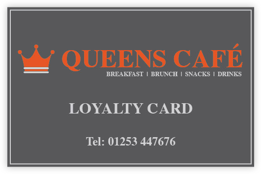 Queens Cafe Loyalty Card
