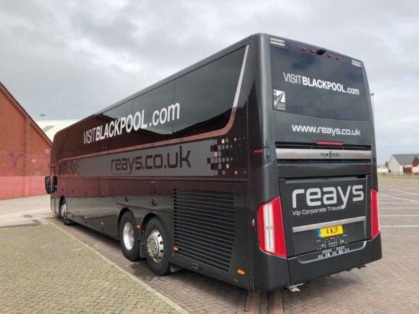 Team bus branding blackpool fc