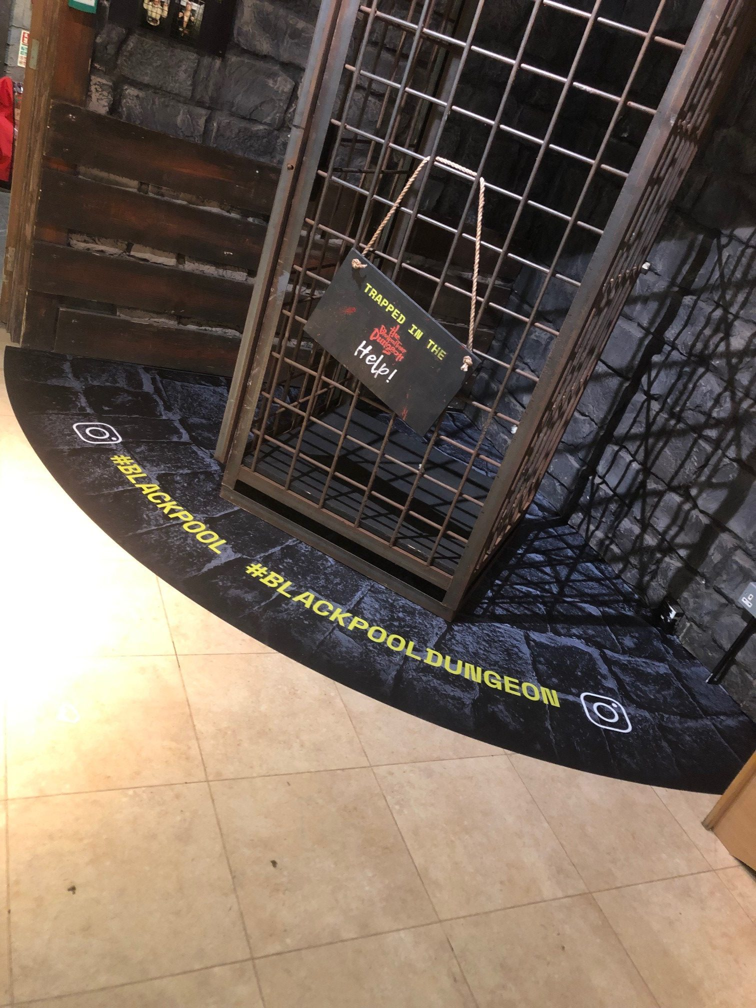 floor graphic blackpool tower dungeons