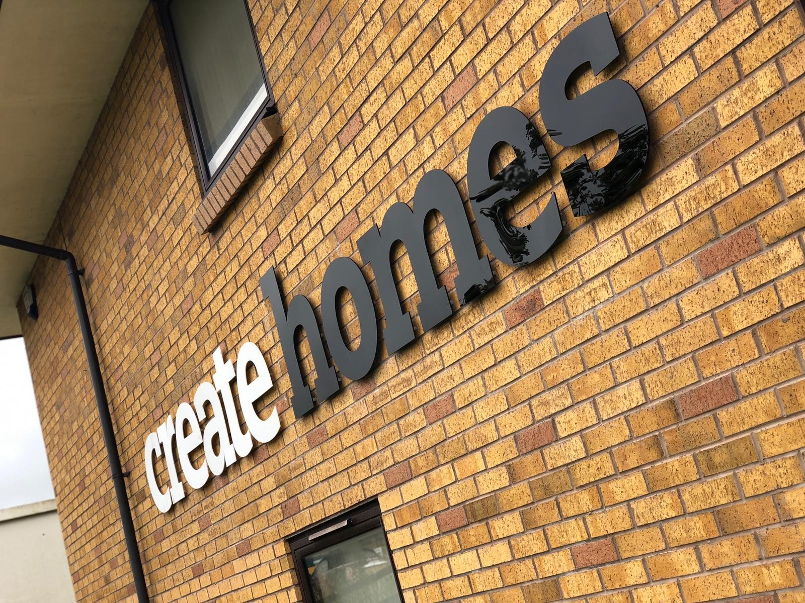 Side Sign Create Homes