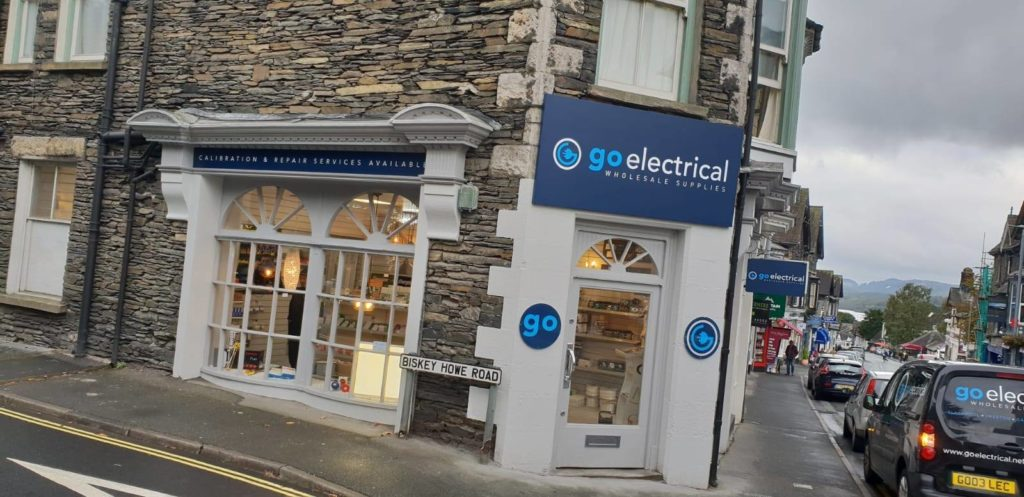 shop front branding go electrical
